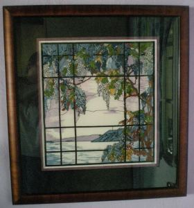Tiffany stained glass cross stitch, Oyster Bay