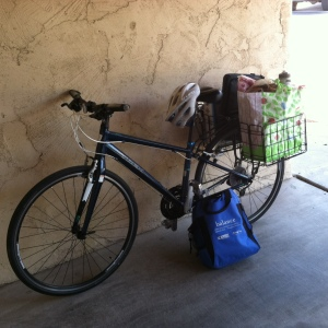 Bike and groceries